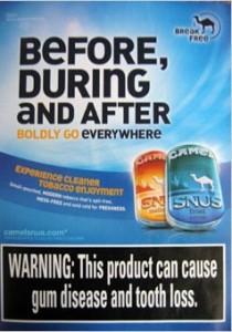 Snus causes gum disease